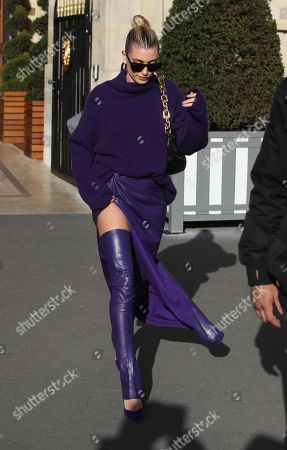 Editorial image of Hailey Bieber out and about, Paris Fashion Week, France - 26 Feb 2020