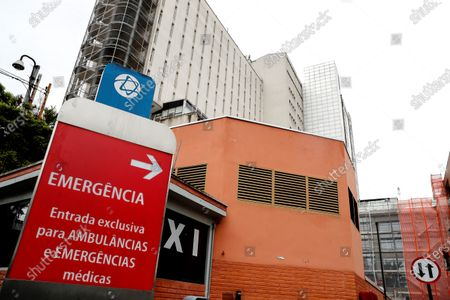 General view of the Albert Einstein Hospital, where what would be the first case of coronavirus in Brazil was detected, in Sao Paulo, Brazil, 26 February 2020. Health authorities warned that a new analysis for the final confirmation must still be performed. The patient, according to official sources, is a 61-year-old Brazilian who was between 9 and 21 February in Lombardy, in northern Italy, a country in which eleven deaths and about 320 infected by the virus have been recorded so far.