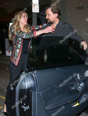 Alana Stewart and Sean Stewart outisde Craig's Restaurant