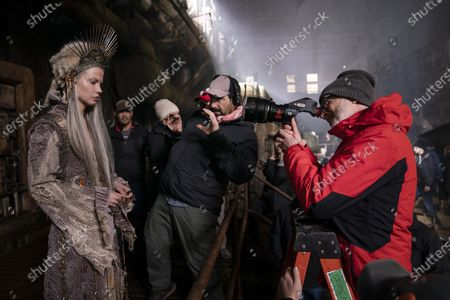 Sylvia Hoeks as Queen Kane and Francis Lawrence Director