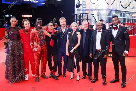 Annabelle Mandeng, Nils Verkooijen, Welket Bungue, director Burhan Qurbani, Albrecht Schuch, Jella Haase, Joachim Krol, Richard Fouofie Djimeli, and Michael Davies arrive for the premiere of 'Berlin Alexanderplatz' during the 70th annual Berlin International Film Festival (Berlinale), in Berlin, Germany, 26 February 2020. The movie is presented in the Official Competition at the Berlinale that runs from 20 February to 01 March 2020.