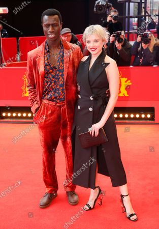 Welket Bungue and Jella Haase arrive for the premiere of 'Berlin Alexanderplatz' during the 70th annual Berlin International Film Festival (Berlinale), in Berlin, Germany, 26 February 2020. The movie is presented in the Official Competition at the Berlinale that runs from 20 February to 01 March 2020.