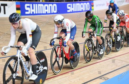 Laura Kenny of Great Britain in the Women's Scratch Race.