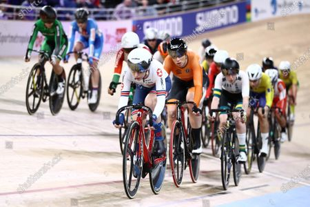 Laura Kenny of Great Britain in the Women's Scratch Race