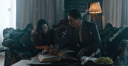 Freya Tingley as Rose Fisher and Simon Abkarian as Charles Vernais