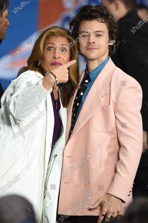Stock Photo of Hoda Kotb and Harry Styles