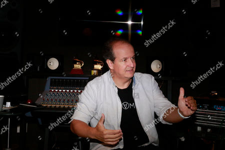 Julio Reyes Copello speaks during an interview about a new Abbey Road Institute, in Miami. The Abbey Road Institute announced that it will open its first music school in the United States in partnership with Copello