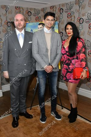 Jonathan Sothcott, Dylan Sothcott and Janine Nerissa