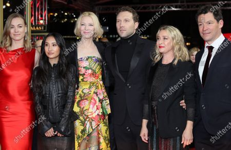 Yvonne Strahovski, Soraya Heidari, Cate Blanchett, Jai Courtney, Asher Keddie and Dominic West arrive for the premiere of 'Stateless' during the 70th annual Berlin International Film Festival (Berlinale), in Berlin, Germany, 26 February 2020. The movie is presented in the Berlinale Series section at the Berlinale that runs from 20 February to 01 March 2020.