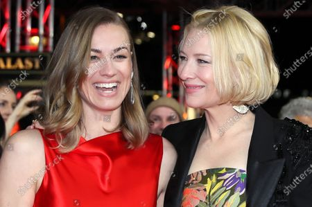 Cate Blanchett (R) and Yvonne Strahovski (L) arrive for the premiere of 'Stateless' during the 70th annual Berlin International Film Festival (Berlinale), in Berlin, Germany, 26 February 2020. The movie is presented in the Berlinale Series section at the Berlinale that runs from 20 February to 01 March 2020.
