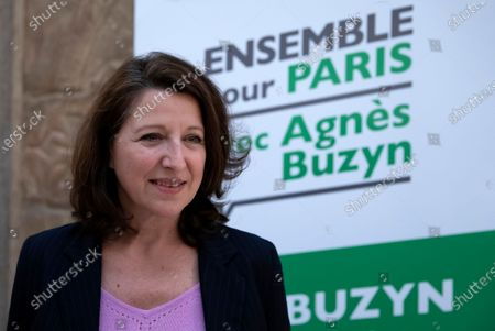 Former French Health Minister and mayoral candidate for Paris Agnes Buzyn poses for pictures after a campaign rally in Paris, France, 26 February 2020. Buzyn took the candidacy for La Republique En Marche (LaREM) party, replacing former candidat Benjamin Griveaux who dropped his candidacy in the Paris municipal elections on 14 February over publication of sexual imagery allegedly related to him on social media.
