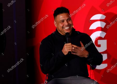 Former Brazilian player, and now President of the Spanish team Real Valladolid, Ronaldo Nazario speaks during a press conference at the Sport Summit sports industry meeting held in Mexico City, Mexico, 26 February 2020.