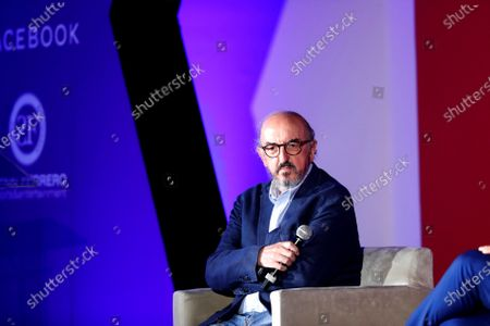 Founder of the Mediapro Group, the Spanish Jaume Roures, participates in the Sports Summit 2020, in Mexico City, Mexico, 26 February 2020.