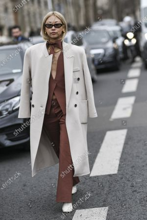 Editorial picture of Street Style, Fall Winter 2020, Paris Fashion Week, France - 26 Feb 2020