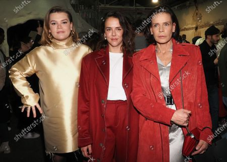 Stock Image of Camille Marie Kelly Gottlieb, Pauline Ducruet and Princess Stephanie