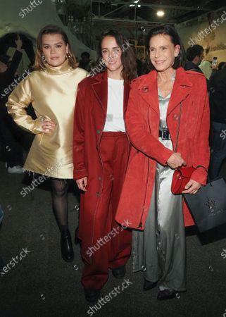 Stock Photo of Camille Marie Kelly Gottlieb, Pauline Ducruet and Princess Stephanie