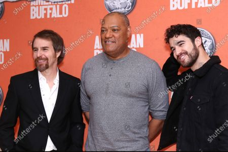 Stock Picture of Laurence Fishburne, Sam Rockwell and Darren Criss