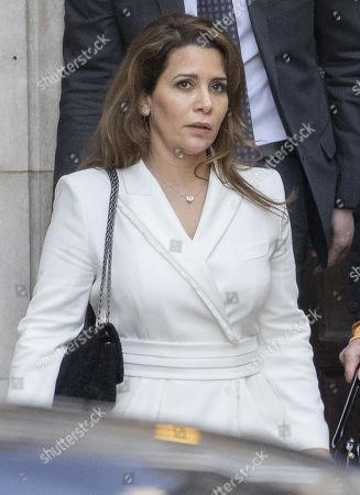 Editorial photo of Princess Haya Bint Al Hussein court hearing, London, UK - 26 Feb 2020