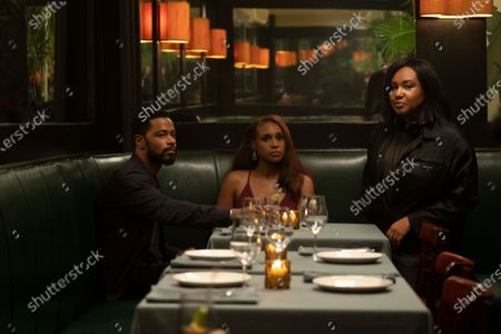 LaKeith Stanfield as Michael Block and Issa Rae as Mae Morton and Writer/Director Stella Meghie