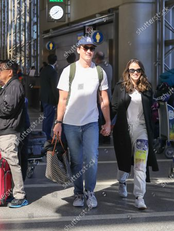 Stock Picture of Miles Teller and Keleigh Sperry