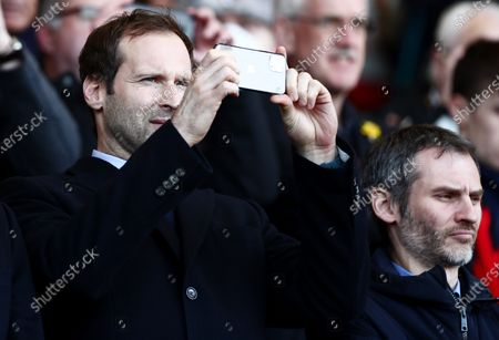 Chelsea Technical and Performance Advisor Petr Cech is seen taking a photo.