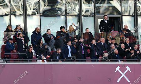 West Ham United owner David Gold , David Sullivan and club vice-chairman Karren Brady