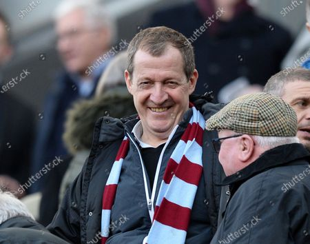 Alastair Campbell in the stands to watch his team Burnley