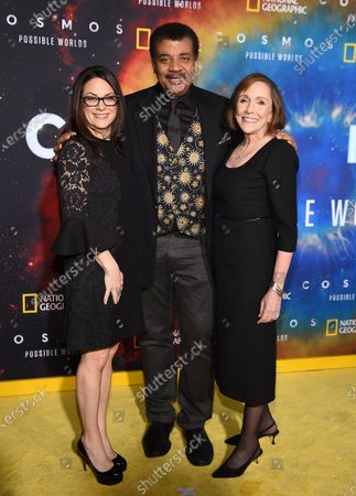 Neil deGrasse Tyson, Courteney Monroe, Ann Druyan