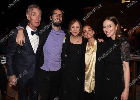 Stock Photo of Bill Nye, Samuel Sagan, Ann Druyan, Nicole Richie, Sasha Sagan