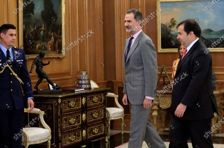 Editorial picture of King Felipe VI receives Brazilian Lower Chamber Speaker Rodrigo Maia in an audience, Madrid, Spain - 27 Feb 2020
