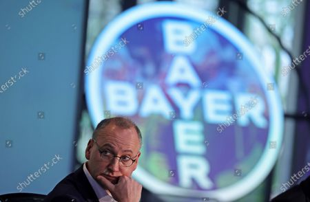 CEO of German pharmaceutical company Bayer Werner Baumann attends the Bayer's balance press conference in Leverkusen, Germany, 27 February 2020.