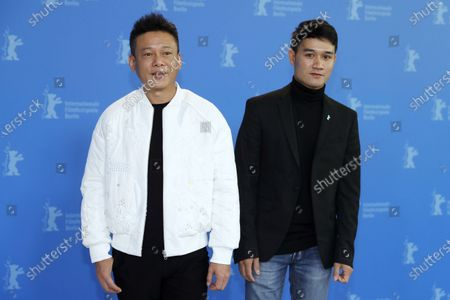 Lee Kang-Sheng (L) and Anong Houngheuangsy (R) pose during the Rizi (Days) photocall during the 70th annual Berlin International Film Festival (Berlinale), in Berlin, Germany, 27 February 2020. The movie is presented in the Official Competition at the Berlinale that runs from 20 February to 01 March 2020.