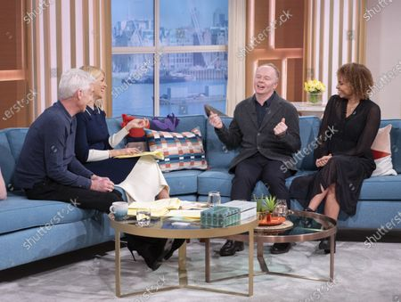 Phillip Schofield and Holly Willoughby with Jason Watkins and Tala Gouveia