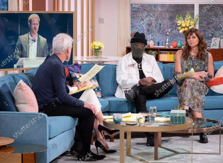 Phillip Schofield and Holly Willoughby with The Drillminister and Beverley Turner