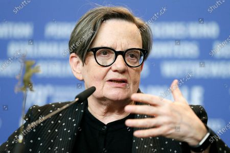 Agnieszka Holland attends the press conference for the 'Charlatan' during the 70th annual Berlin International Film Festival (Berlinale), in Berlin, Germany, 27 February 2020. The movie is presented in the Berlinale Special section at the Berlinale that runs from 20 February to 01 March 2020.