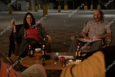 Sonya Cassidy as Liz Dudley and David Ury as Champ