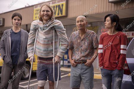 "Sonya Cassidy as Liz Dudley, Wyatt Russell as Sean ""Dud"" Dudley, Long Nguyen as Paul Ba and Celia Au as Alice Ba"
