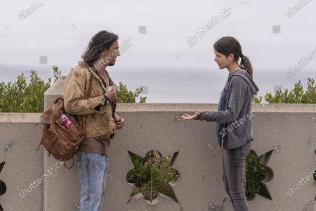 Michael Delgado as Homeless Man and Sonya Cassidy as Liz Dudley