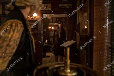 Linda Emond as Connie Clark and Pollyanna McIntosh as Melinda/Clara