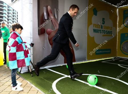 Stock Image of Stiliyan Petrov at Utilita Activation prior to the game