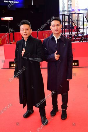 Lee Kang-Sheng (L) and Anong Houngheuangsy arrive for the premiere of 'Rizi (Days)' during the 70th annual Berlin International Film Festival (Berlinale), in Berlin, Germany, 27 February 2020. The movie is presented in the Official Competition at the Berlinale that runs from 20 February to 01 March 2020.