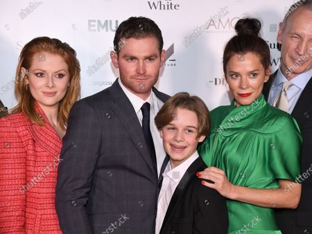 Stock Photo of Emily Beecham, Mark Stanley, Hugo Stone and Anna Friel