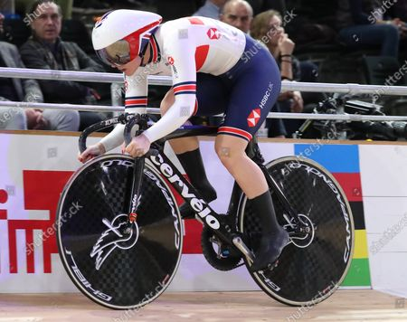 Stock Picture of Katy Marchant of Britain competes during the women's Sprint Qualifying at the UCI Track Cycling World Championships in Berlin, Germany, 27 February 2020.