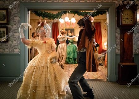 Anna Baryshnikov as Lavinia Dickinson and Gus Halper as Joseph