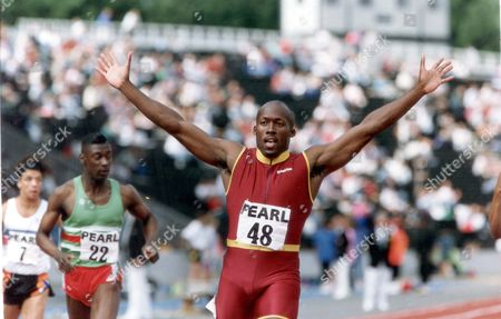 John Regis. The Days Outstanding Performance Came From John Regis The Man From Whom Linford Christie Will Porbably Be Taking The Relay Baton In Rome. The European Champion Showed The Benefit Of Wintering In California Under The Guidance Of A Man Who Coached Two Of Last Years Olympic Champions When He Ran Away With The 200m In 20.21sec. Pkt2558 - 174116