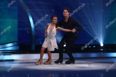 Ben Hanlin and Carlotta Edwards during the skate off