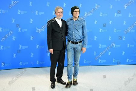 Michael Wittenborn (L) and Sebastian Blomberg pose during the 'Curveball' photocall during the 70th annual Berlin International Film Festival (Berlinale), in Berlin, Germany, 27 February 2020. The movie is presented in the Berlinale Special section at the Berlinale that runs from 20 February to 01 March 2020.