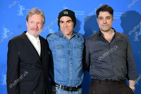 Michael Wittenborn, Sebastian Blomberg and director Johannes Naber  pose during the 'Curveball' photocall during the 70th annual Berlin International Film Festival (Berlinale), in Berlin, Germany, 27 February 2020. The movie is presented in the Berlinale Special section at the Berlinale that runs from 20 February to 01 March 2020.