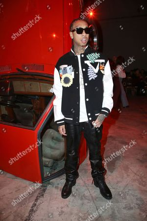 Tyga attends the Off White fashion collection during Women's fashion week Fall/Winter 2020/21 presented in Paris