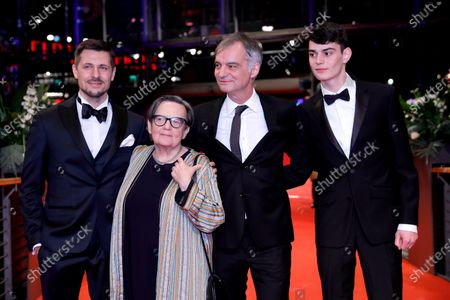 Juraj Loj, Polish director Agnieszka Holland, Ivan Trojan, Josef Trojan arrive for the premiere of 'Charlatan' during the 70th annual Berlin International Film Festival (Berlinale), in Berlin, Germany, 27 February 2020. The movie is presented in the Berlinale Special section at the Berlinale that runs from 20 February to 01 March 2020.